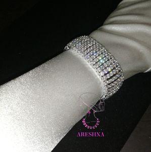 Areshna Jewelry - 6 Row 5/8ct Swarovski Crystal Bracelet